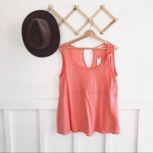 NWT ✨ Anthro Pure+ Good   Coral Tie Shoulder Tank